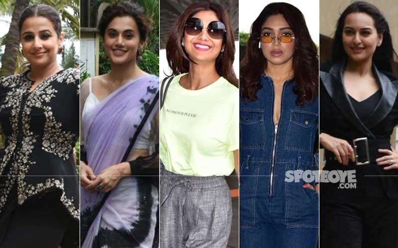 STUNNER OR BUMMER: Vidya Balan, Bhumi Pednekar, Sonakshi Sinha, Shilpa Shetty Or Taapsee Pannu?