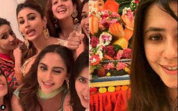 'Dream Girls' Urvashi Dholakia, Mouni Roy, Anita Hassanandani, Krystle D'Souza Celebrate Ganesh Chaturthi With Ekta Kapoor
