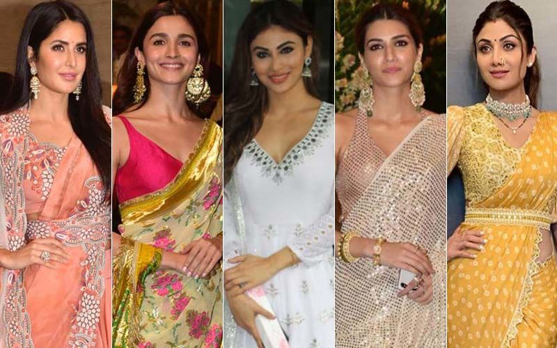 BEST DRESSED & WORST DRESSED At Ganesh Utsav 2019: Katrina Kaif, Alia Bhatt, Mouni Roy, Kriti Sanon Or Shilpa Shetty?