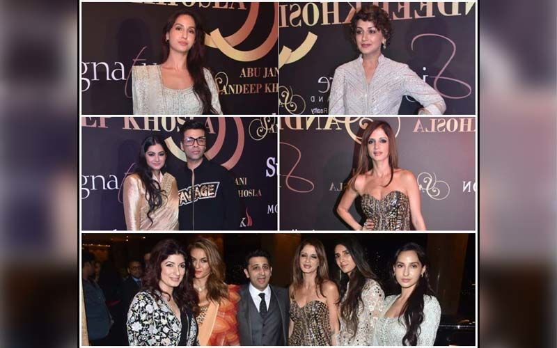 Deepika Padukone, Nora Fatehi, Sussanne Khan, Abhishek Bachchan Raise The Glamour Quotient At Abu Jani And Sandeep Khosla's Fashion Show