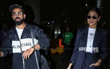Virat Kohli And Anushka Sharma Look All Happy And Cheerful As They Return To Mumbai After The West Indies Tour