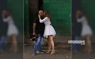 Kim Sharma Enjoys A Brunch Date With Vishal Dadlani, Plants A Kiss On His Cheek-PICS