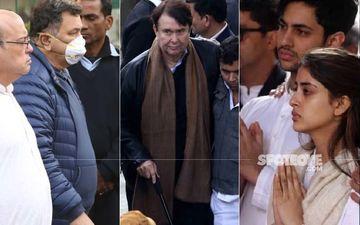 Ritu Nanda Funeral: Rishi Kapoor, Randhir Kapoor, Agastya Nanda And Others Pay Respects