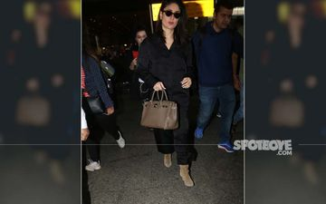 Kareena Kapoor Makes Sleepwear Look Chic; Actress Spotted At Airport In The Perfect Travel Outfit- PJ's