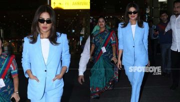 Priyanka Chopra, The Boss Girl Is All Suited-Up As She Is Back In Amchi Mumbai– PICS