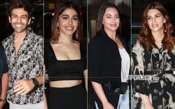 Jawaani Jaaneman Screening: Kartik Aaryan, Alaya F, Sonakshi Sinha, Kriti Sanon Arrive To Watch Saif Ali Khan-Tabu Starrer