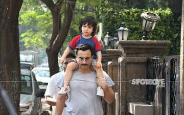 Taimur Ali Khan Spotted In Bandra On His Favourite Ride, His Abba Saif Ali Khan's Shoulders