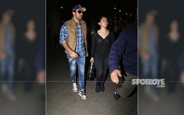 Ranbir Kapoor And Alia Bhatt Back From Capital Post Meeting Ailing Rishi Kapoor