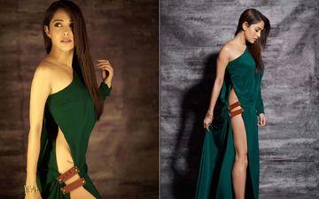 Nushrat Bharucha Is The Ultimate Risk-Taker In Her Dangerously  Waist-Revealing Slit Dress