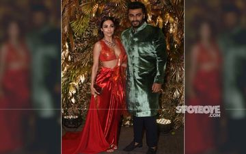Armaan Jain's Reception Party: Malaika Arora Looks RED HOT As Arjun Kapoor's Arm Candy, Couple Makes Cams Go Wild