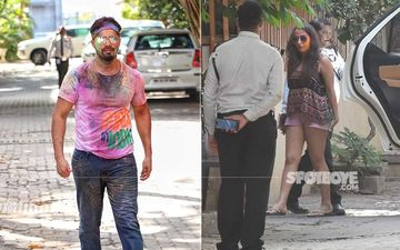 Holi 2020: Varun Dhawan Celebrates The Festival Of Colours With GF Natasha Dalal - PICS