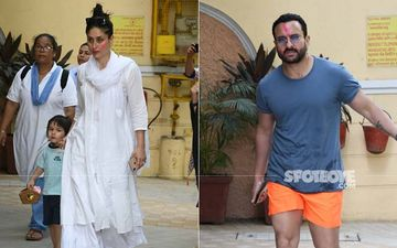 Holi 2020: Kareena Kapoor Khan-Saif Ali Khan With Their Munchkin Taimur Get Papped Post Celebration