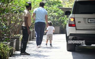 No Quarantine For Taimur Ali Khan, Munchkin Goes On His Usual Outing With Daddy Saif Ali Khan - PICS