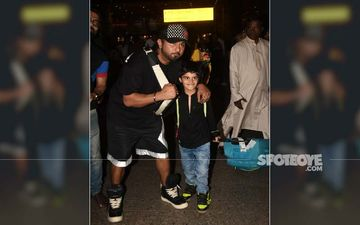 Yo Yo Honey Singh Gets A Bunch Of Love From Fans At The Airport; His Quirky Shoes Scream For Attention