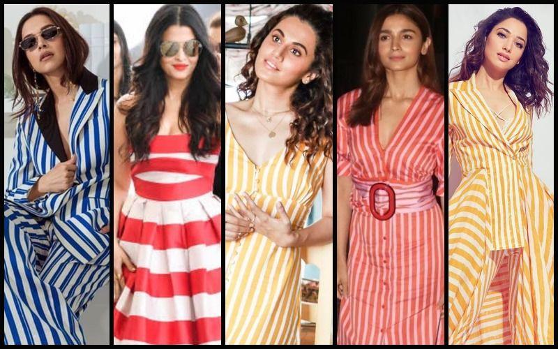 Deepika Padukone, Aishwarya Rai Bachchan, Taapsee Pannu, Alia Bhatt, Tamannaah Bhatia Hotly Revive Candy Stripes