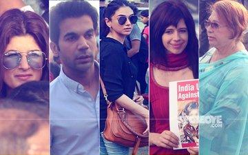Justice For Kathua & Unnao: Twinkle, Rajkummar, Aditi, Kalki, Helen Join Silent Protest