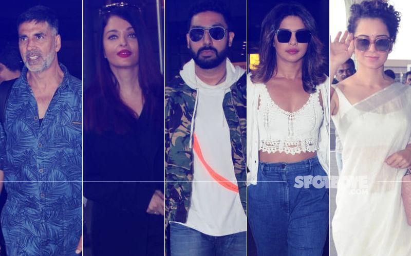 Akshay-Twinkle, Aishwarya-Abhishek, Priyanka, Kangana Get Clicked At The Airport