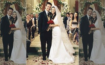 FRIENDS: Monica Geller- Chandler Bing Complete 19 Years Of Marriage; Check Out BTS Pic Of The Lovebirds From Their Wedding- PIC INSIDE