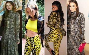 HOLLYWOOD'S HOT METER: Kylie Jenner, Dua Lipa, Victoria Beckham Or Eva Longoria - Game For Animal Prints