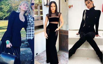 HOLLYWOOD'S HOT METER: Miley Cyrus, Vanessa Hudgens, Bella Hadid Slay In All Black