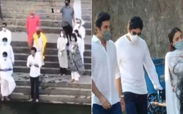 Rishi Kapoor's Ashes Immersed; Ranbir Kapoor, Neetu Kapoor, Riddhima, Alia Bhatt Perform Pooja For The Late Actor At Banganga