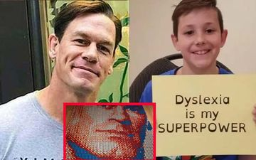 WWE Star John Cena Lauds Dyslexic Kid's Never Give Up Attitude Who Created Cena's Mosaic Using Rubik's Cube