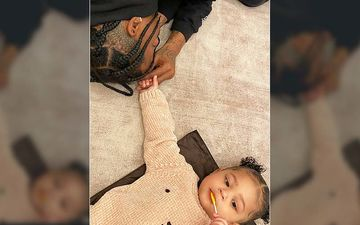 Kylie Jenner And Travis Scott's Daughter Stormi Webster Is Full Of Beans For A Pool Play Date With Dada- VIDEO