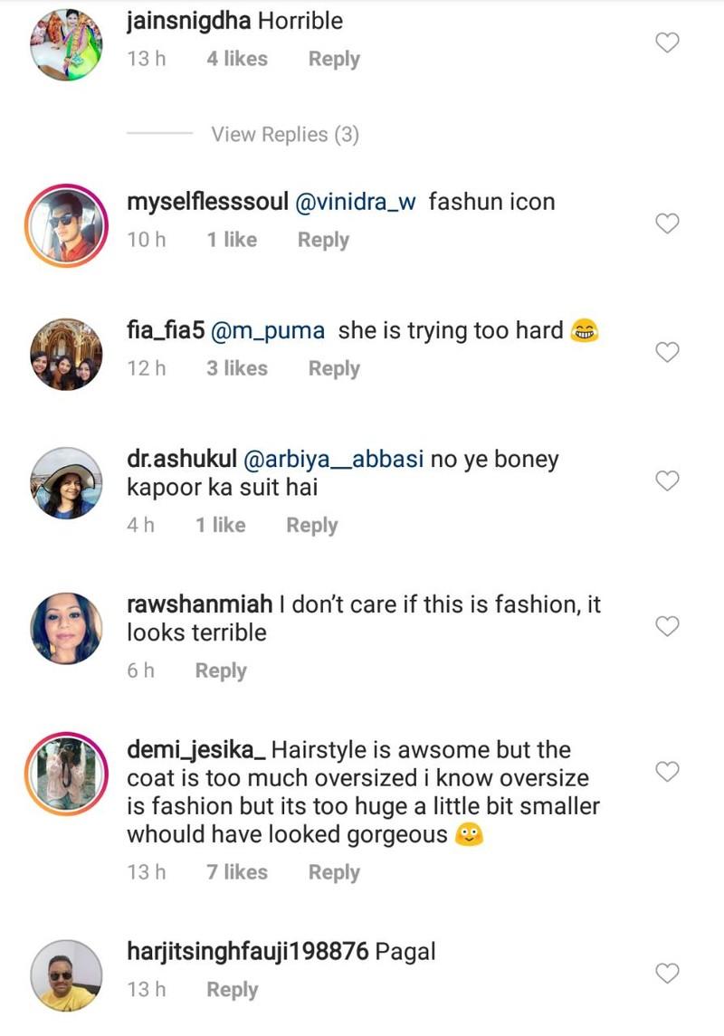 troll comments on sonam kapoor instagram post