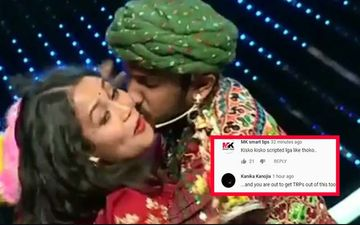 Indian Idol 11: Neha Kakkar Forcefully Kissed By Contestant; Netizens Call It A Scripted TRP Stunt