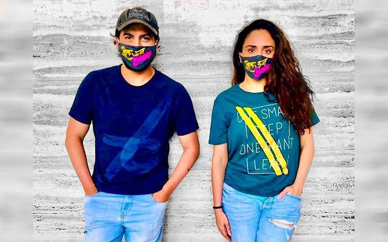 Well Done Baby: Amruta Khanvilkar And Pushkar Jog Start Dubbing Of Their Upcoming Film Wearing These Unique Masks