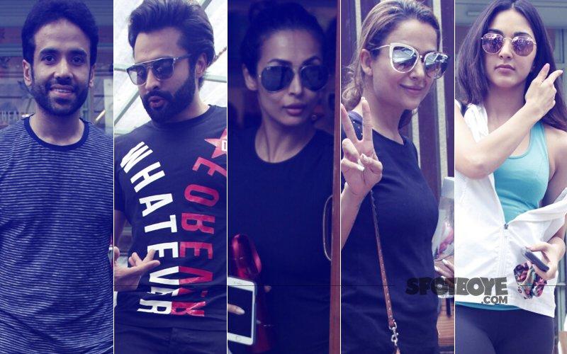 Tusshar Kapoor, Jackky Bhagnani, Malaika Arora, Amrita Arora, Kiara Advani  Step Out In Style