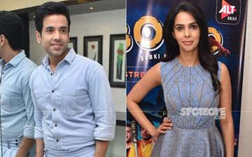 Tusshar Kapoor, Mallika Sherawat Are Color Coordinated During Promotions Of ALTBalaji's BOOO….Sabki Phategi