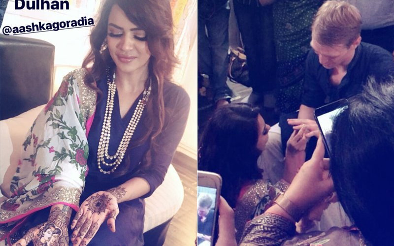 Aashka Goradia-Brent Globe Get Engaged AGAIN! Mouni Roy, Sana Khan, Sanam Johar And Abigail Pande Attend