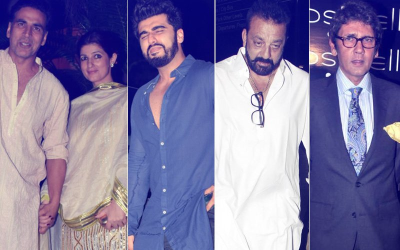PARTY TIME: Akshay-Twinkle, Arjun At A Birthday Bash; Sanjay Hangs Out With Kumar Gaurav