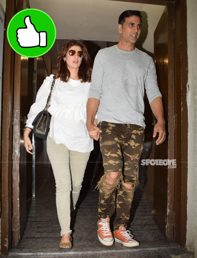 twinkle khanna and akshay kumar spotted post a movie