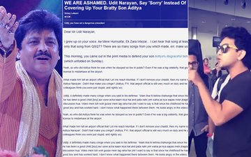 SPOTBOYE-FFECT: Sense Prevails, Udit Narayan Will Make Aditya Issue A Public Apology