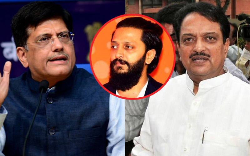Union Minister Piyush Goyal Accuses (Late) Vilasrao Deshmukh; Riteish Stands Up For His Father