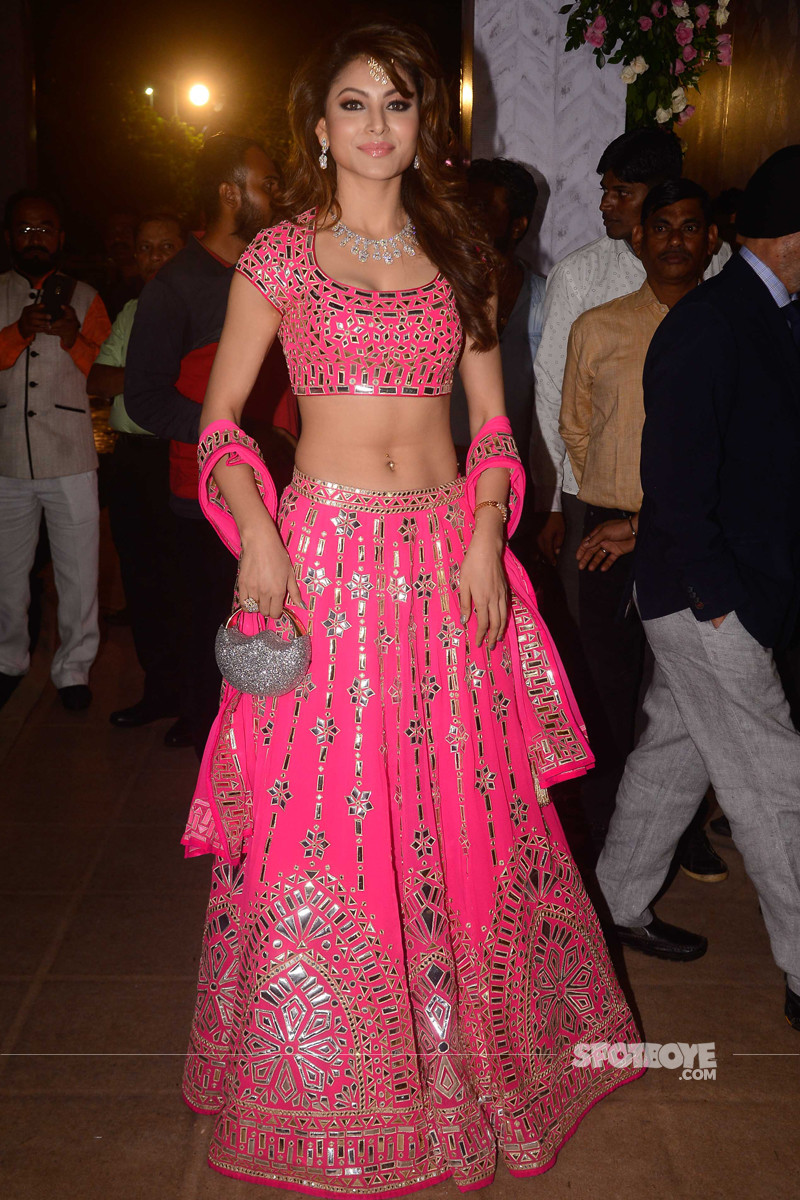 urvashi rautela at poorna patel reception