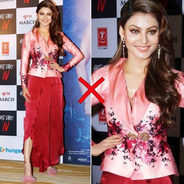 urvashi rautela fails to impress in this dress