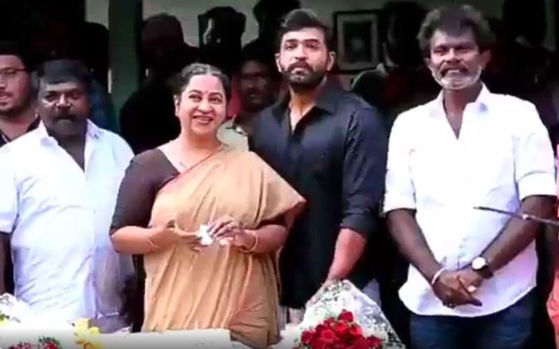 Arun Vijay And AV33 Team Felicitates Radhika Sarathkumar For Completing 43 Successful Years In The Film Industry