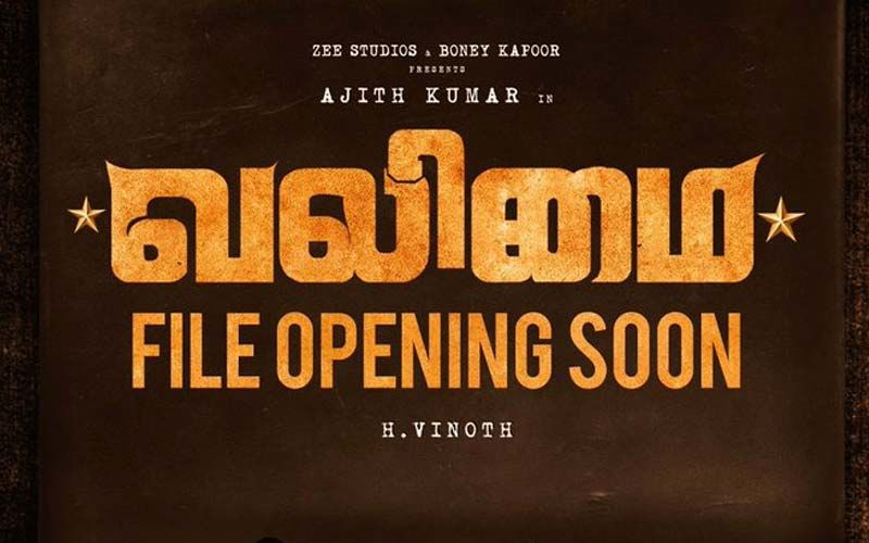 The Announcement Of Ajith's Valimai First Look Is Here, Find The Details Here