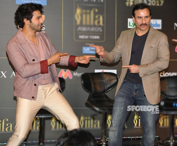 varun dhawan and saif ali khan to co host iifa 2017 n the us