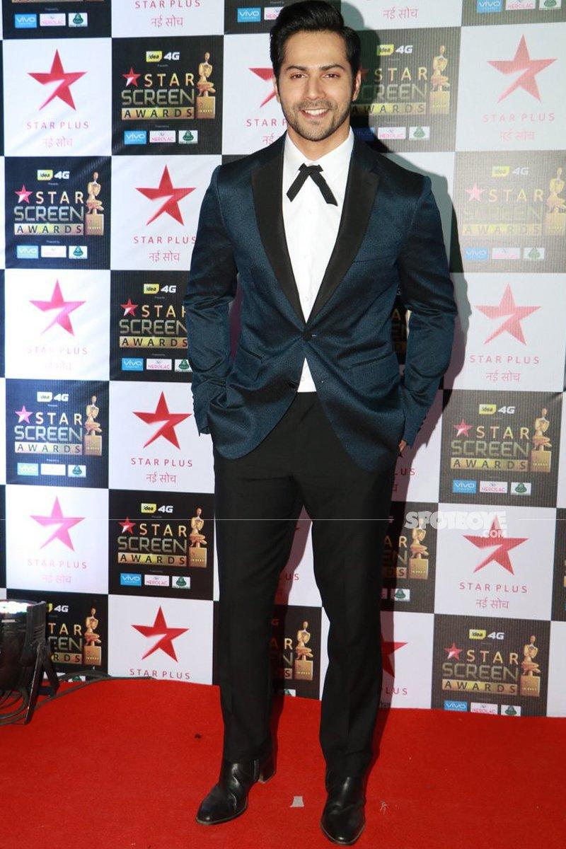 varun dhawan at star screen awards