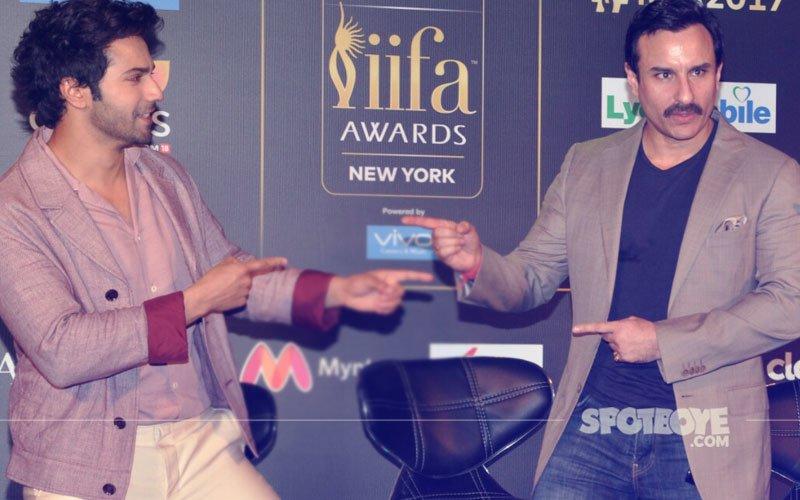 Varun Dhawan & Saif Ali Khan At IIFA 2017 Media Meet