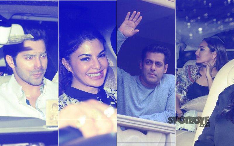 Salman Khan's EID Bash: Varun Dhawan, Jacqueline Fernandez, Sonakshi Sinha Celebrate With The Khan-daan
