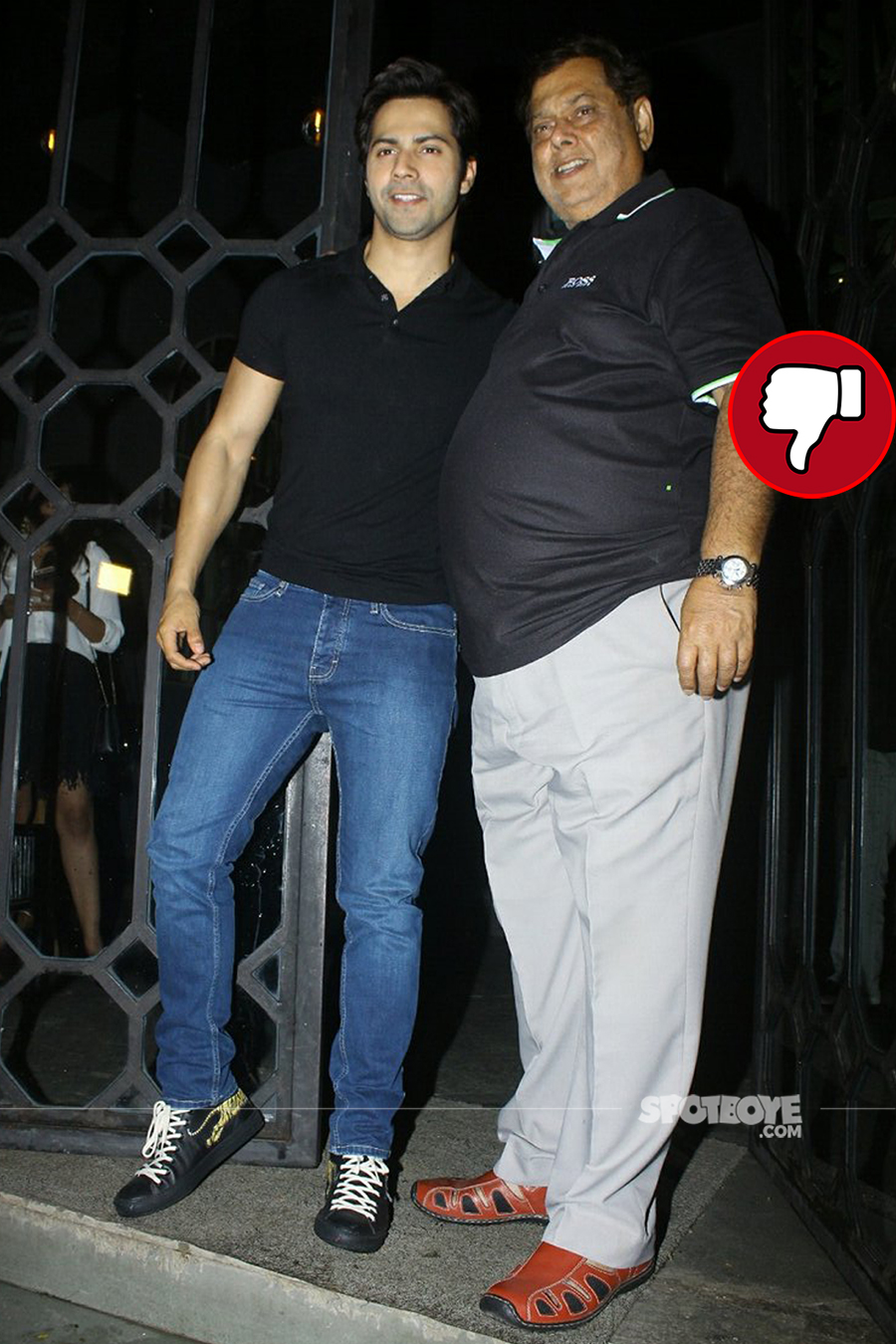 varun dhawan with dad david dhawan the korner house
