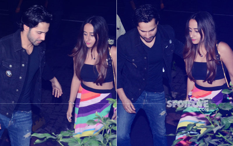 Lovebirds Varun Dhawan & Natasha Dalal Look Much-In-Love At Dinesh Vijan's Birthday Bash