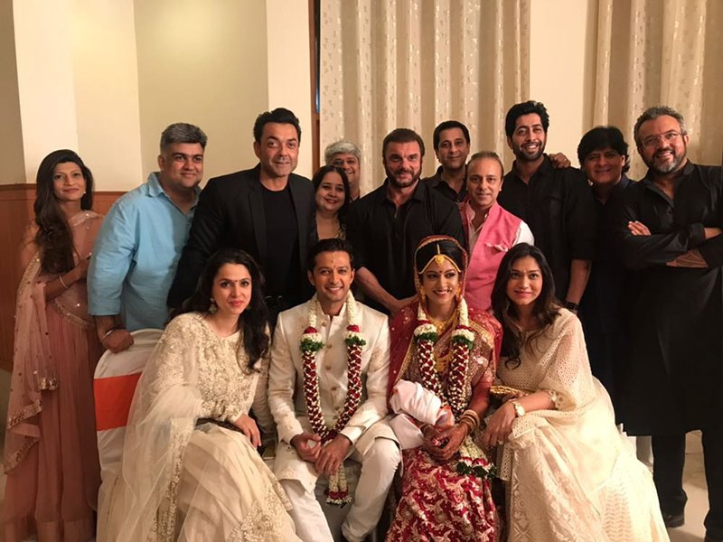 vatsal seth married to ishita dutta bobby deol sohail khan attend