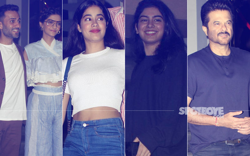 Veere Di Wedding Screening: Sonam-Anand, Janhvi-Khushi, Anil Kapoor Watch The Film