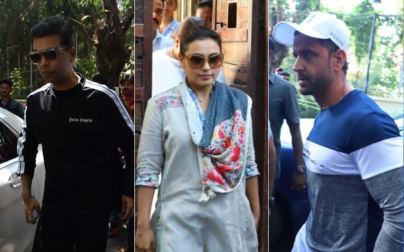 Veeru Devgan Demise: Karan Johar, Rani Mukerji, Hrithik Roshan Meet Ajay-Kajol To Offer Condolences